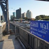 Cahill walk across the bridge