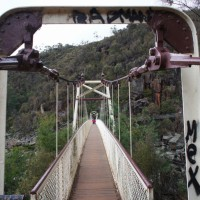 Launceston Cataract Gorge bridge