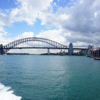 Sydney Harbour Bridge from the neutral Bay Ferry