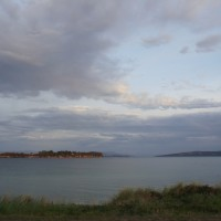View from Bruny Island in the evening
