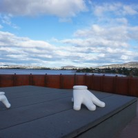 View of Hobart from the roof of MONA