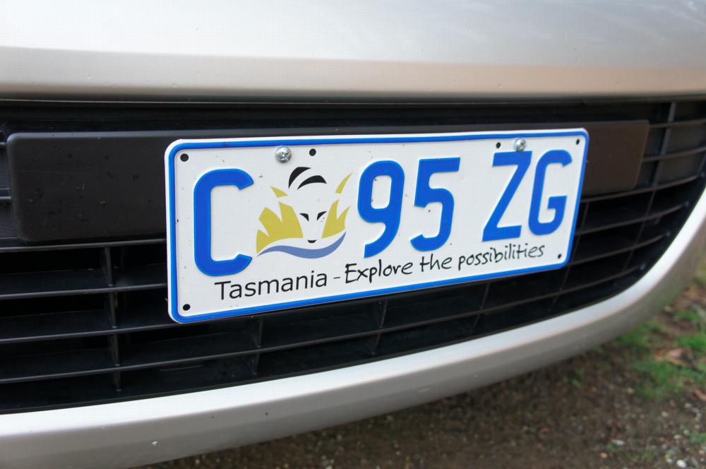 My Tasmanian rental car