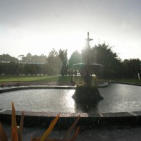 The fountain in Taralleah's main square