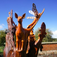 Wood sculptures in Campbelltown