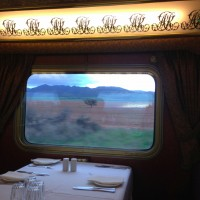 Dining in style aboard the Ghan in the Queen Adelaide Restaurant