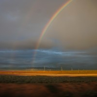 The Flinders Ranges and a double rainbow