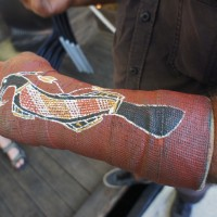 Aboriginal plaster cast art