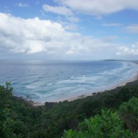 The view from Byron Bay lighthouse