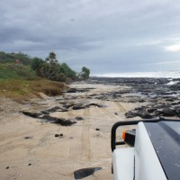 Driving on the beach on Fraser Island