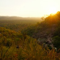 Sunset at Gunlom waterfall