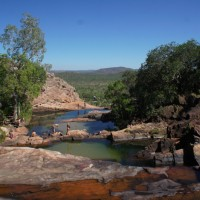 Water holes above Gunlom waterfall