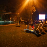 Open air cinema at Jabiru campsite