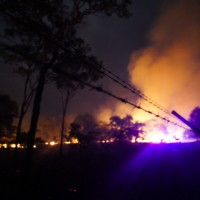 Bush fires at Jabiru campsite