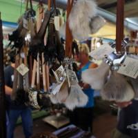 Kangaroo testicle souvenirs at Kuranda market