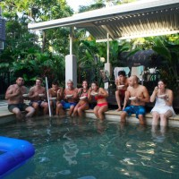 Pool party, Port Douglas
