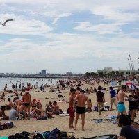 40° a week before Christmas, on St. Kilda Beach