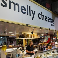 Smelly cheese shop at the Adelaide Central Market