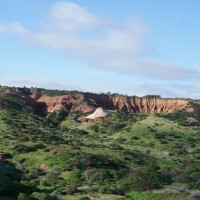 Amphitheatre rock formation in Hallett Cove Conservation Park, Adelaide