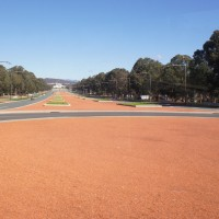 ANZAC Parade, leading up to the Australian War Memorial