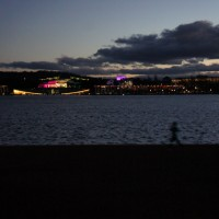 Lake Burley Griffin at night