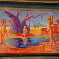 Just normal outback art at The Hoochery, Kununurra