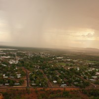 thunderstorm at Kelly's Knob lookout, Kununurra