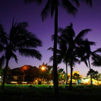 Townsville Beach at night