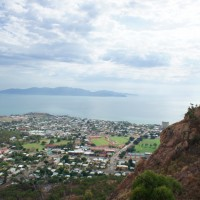 Townsville from above at Castle Hill lookour