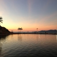 Townsville Rock Pool at Sunset