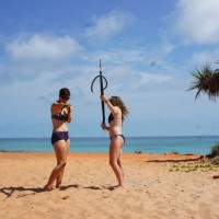 Spear fishing at Cape Leveque