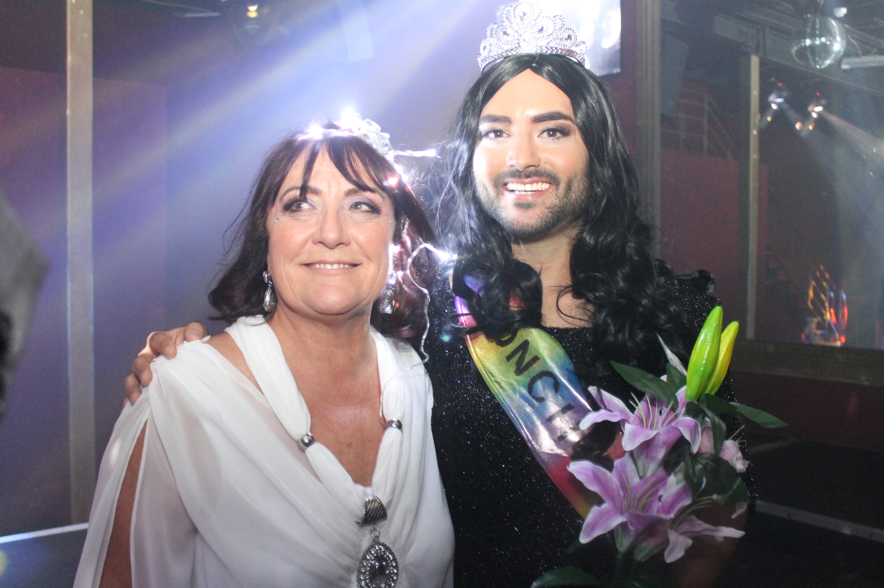 Conchita Wurst lookalike in Perth, Australia