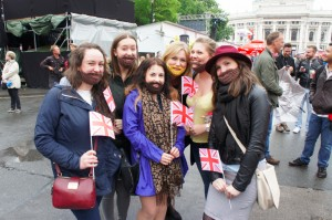 British Conchita-fans, in town for Eurovision 2015